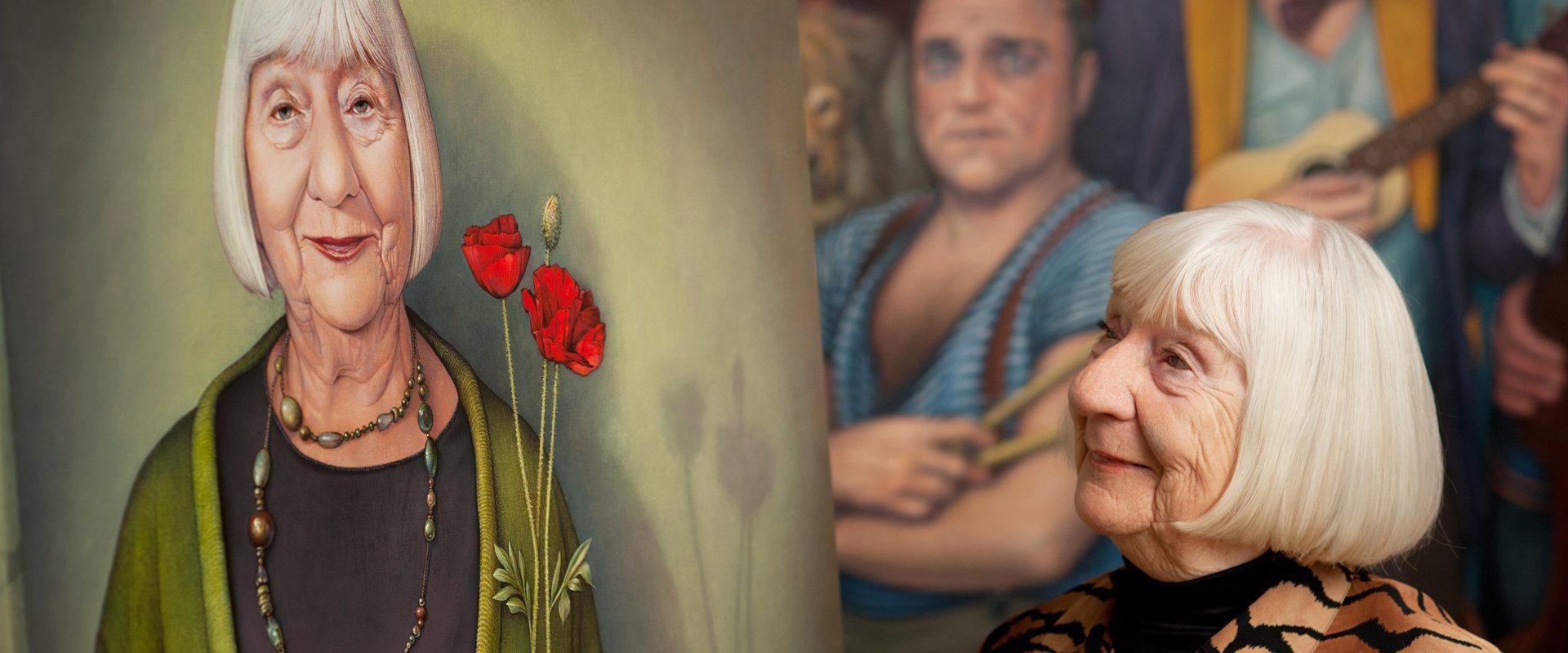 Malerei von Manfred W Juergens - Bildnis Ruth Rupp